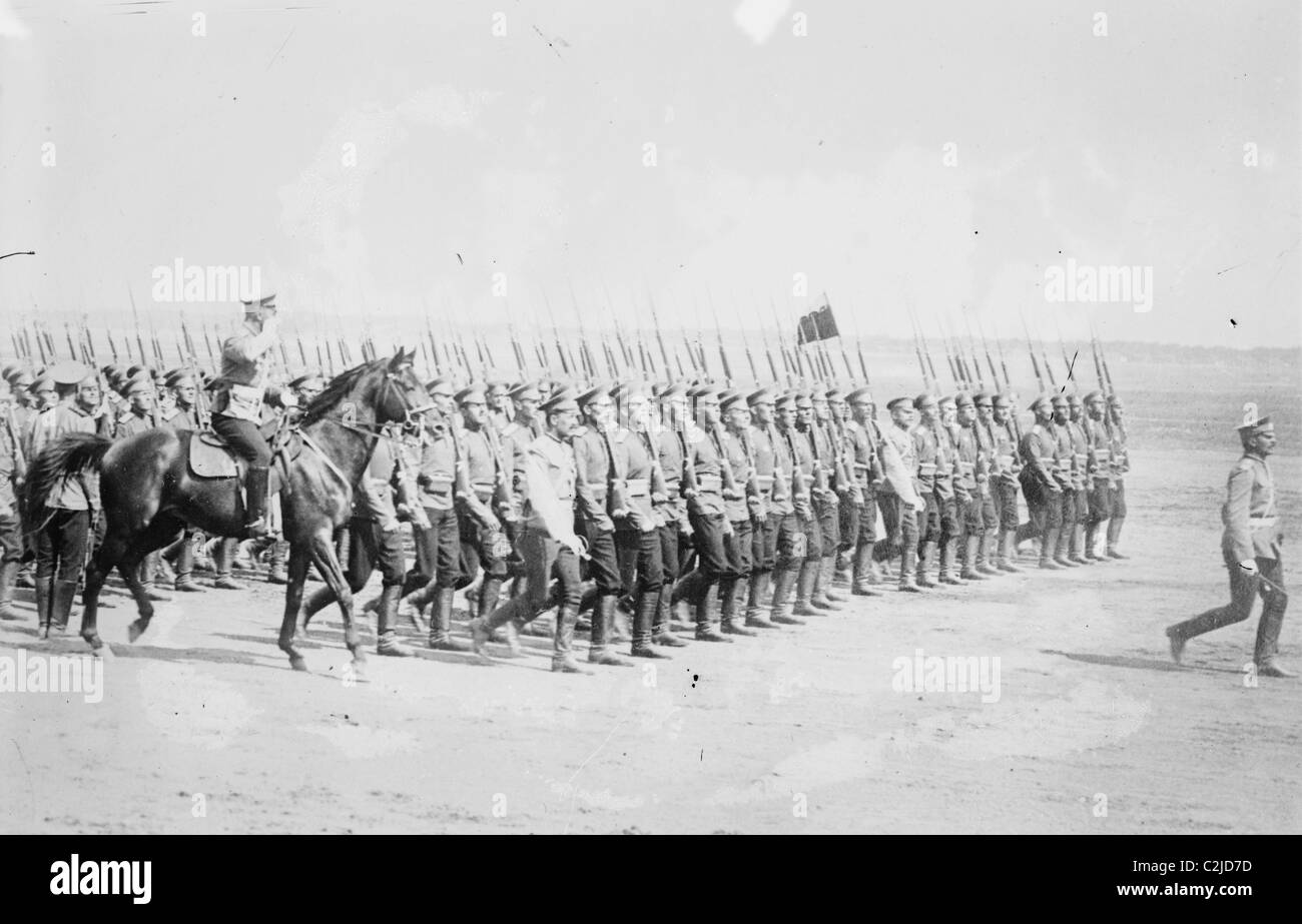 Tsarist Infantry Passes in Review - Stock Image