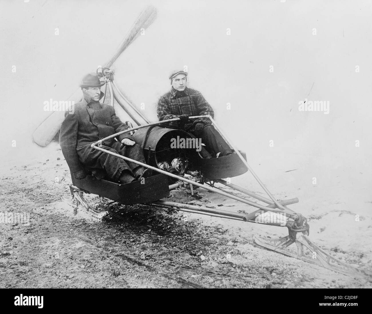 Sled Black and White Stock Photos & Images