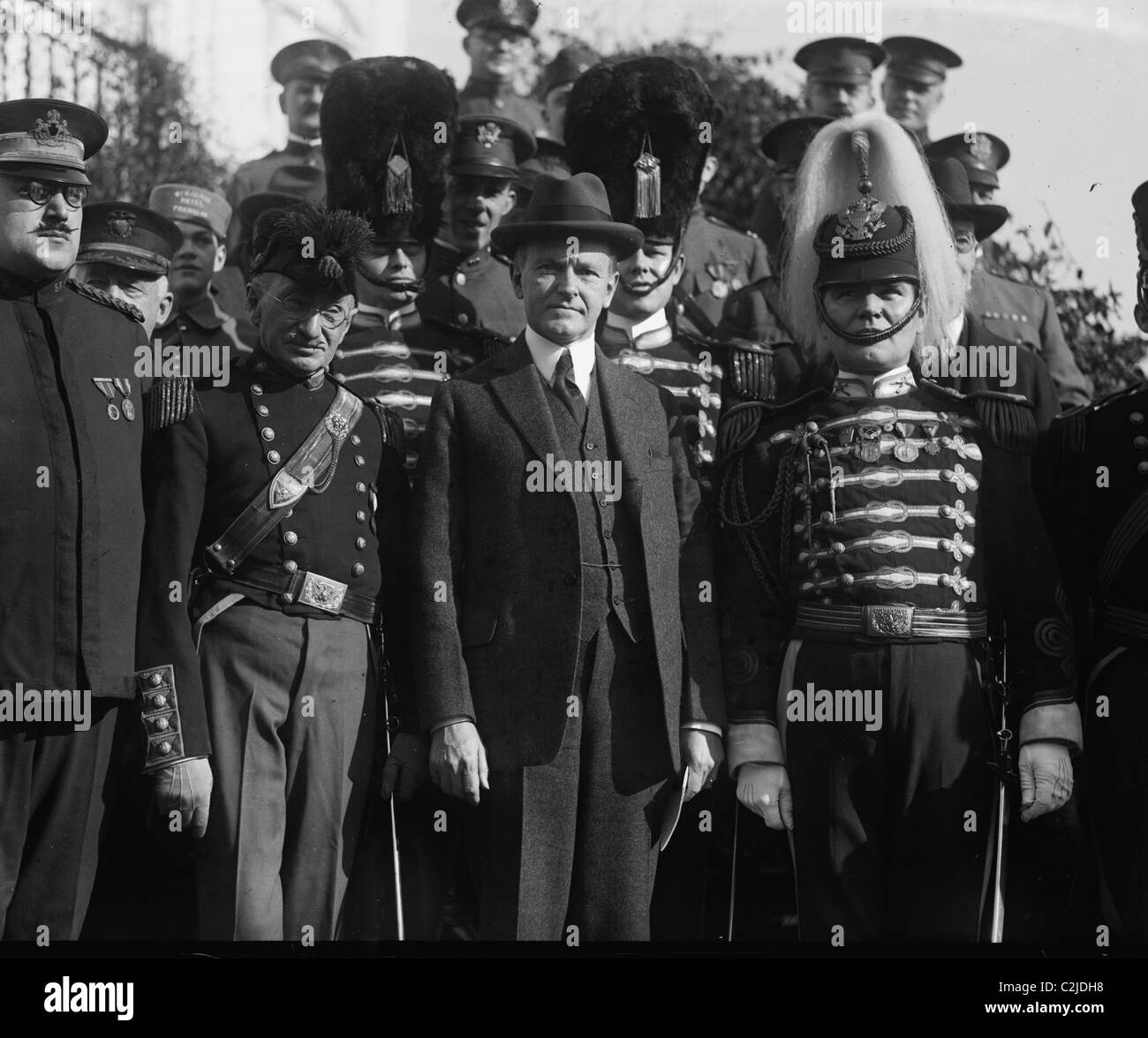 Pennsylvania National Guard Unit Visit President Coolidge - Stock Image