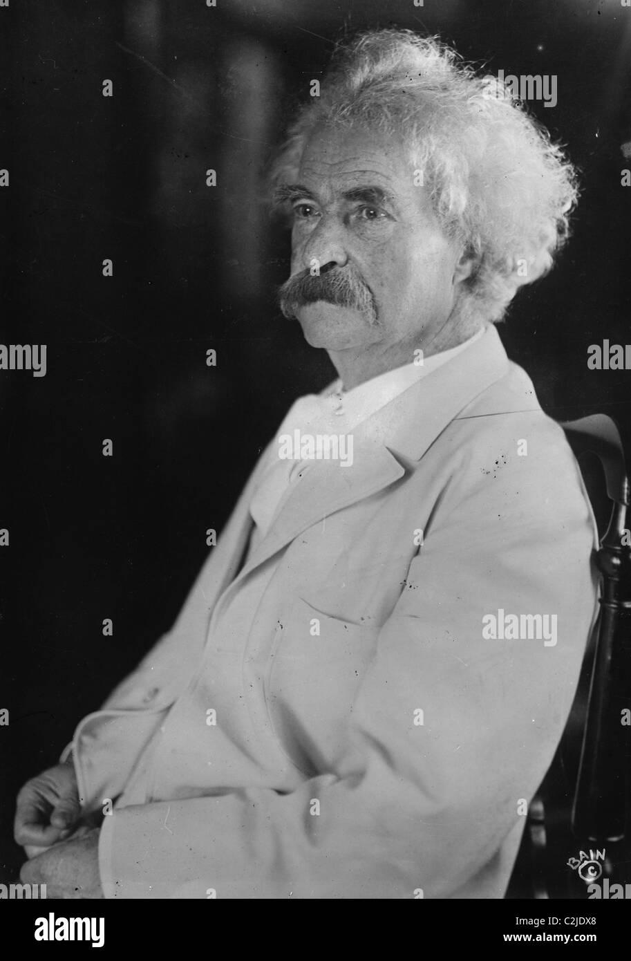 Portrait of Mark Twain - Stock Image
