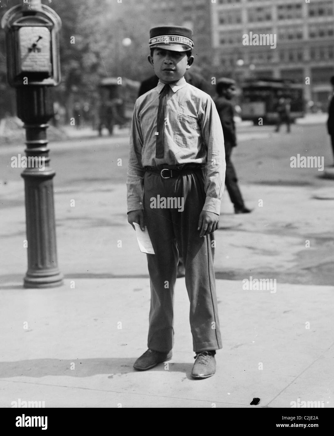 Postal Telegraph Company Summer Uniform - Stock Image