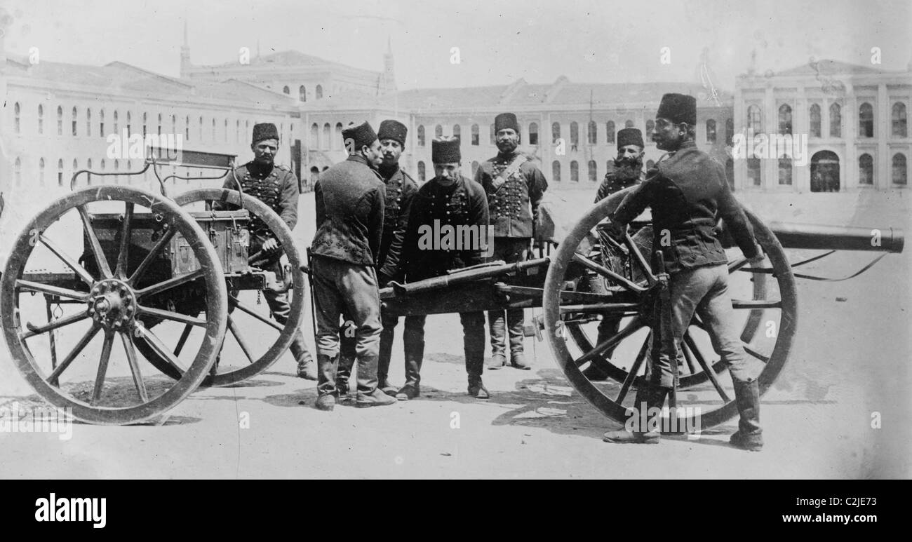 Turkish Artillery of the Ottoman Empire WWI - Stock Image