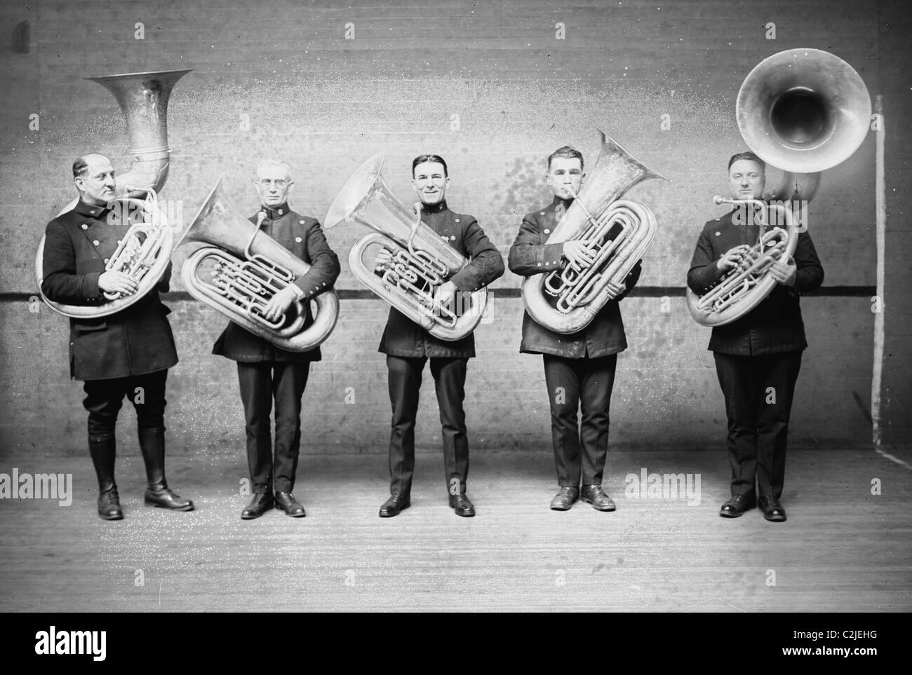 Police Tuba Band - Stock Image