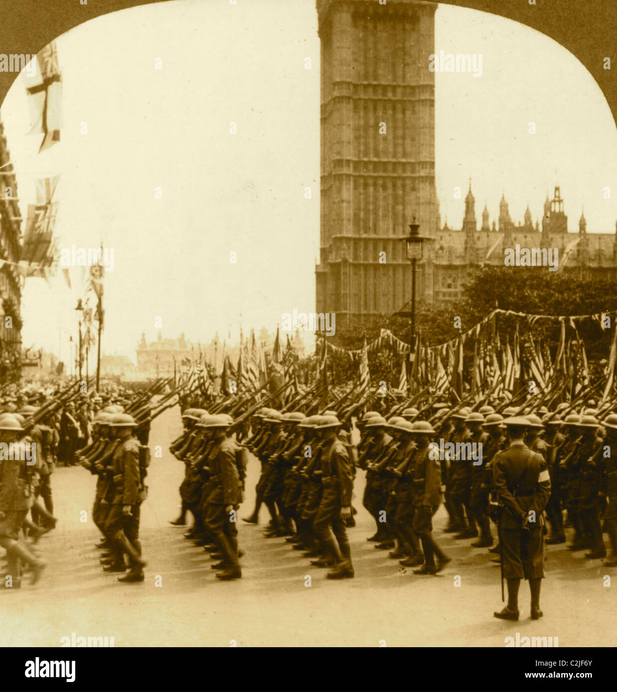 The Yanks In London WWI - Stock Image