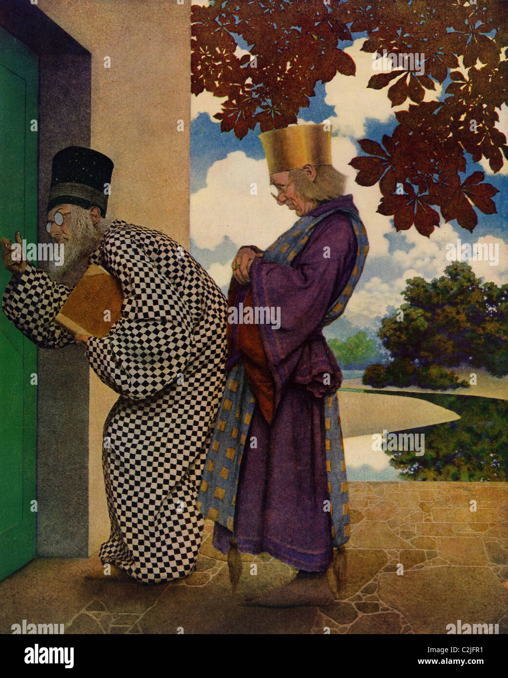 Knave of Hearts - wise men knocking at the door - Stock Image