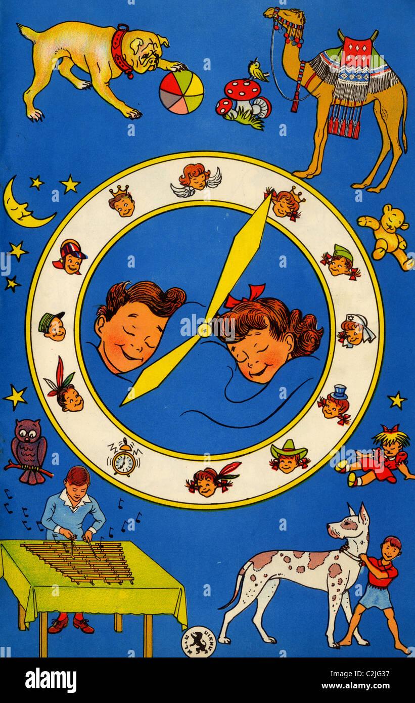 Hebrew Children's Card - Stock Image