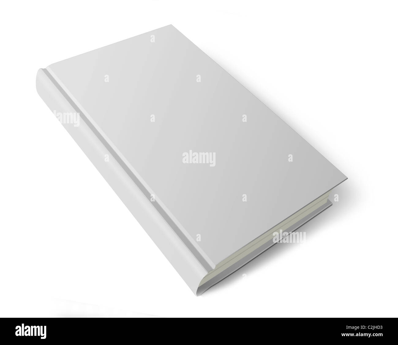Blank cover book isolated over white - Stock Image