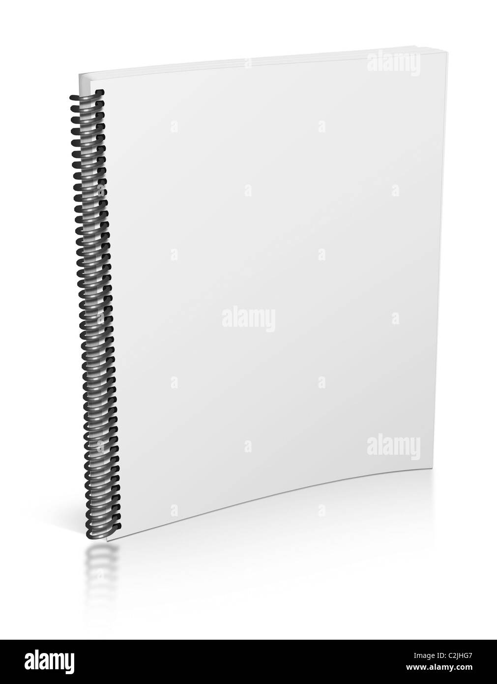 3d blank notepad isolated on white - Stock Image
