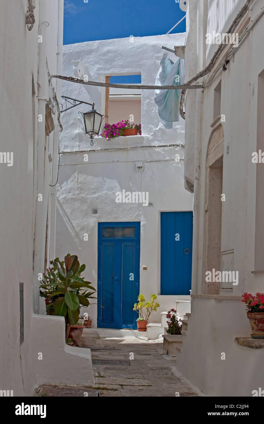 Ostuni - the white city in Apulia, Italy - Stock Image