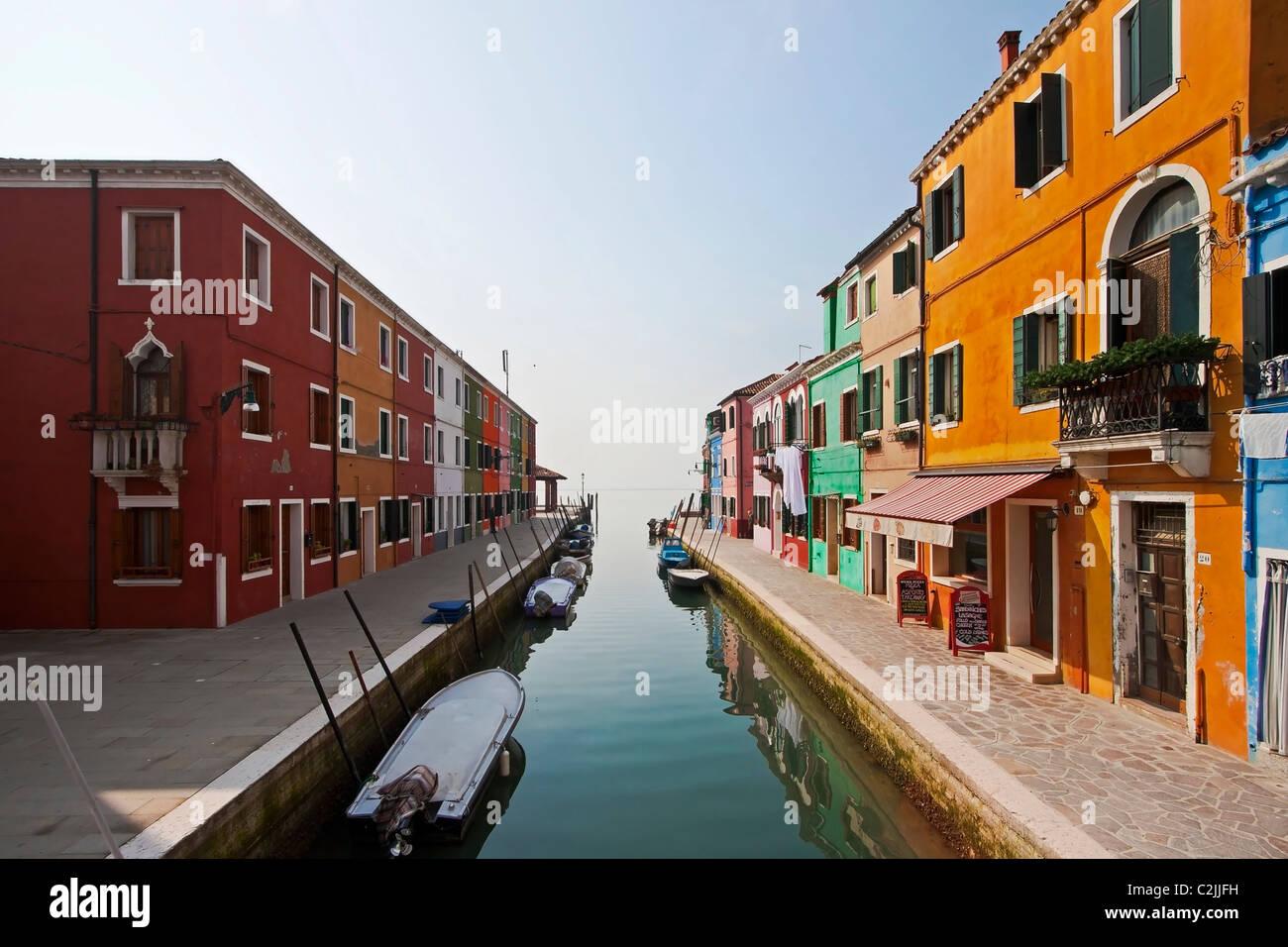 Burano - Venice - Italy - Stock Image