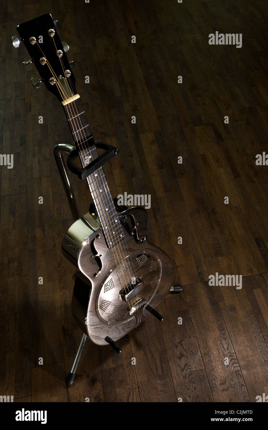 Chrome Guitar - Stock Image