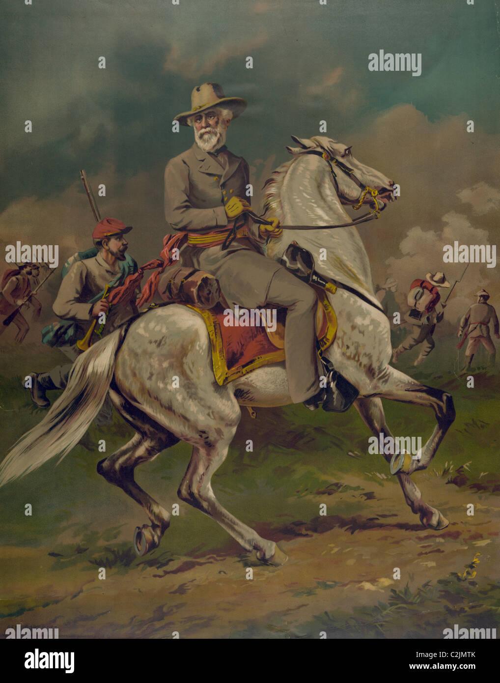 General Robert E. Lee on his horse Traveler - Stock Image