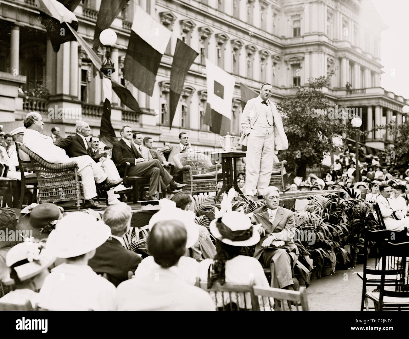 Woodrow Wilson on Flag Day Celebration - Stock Image