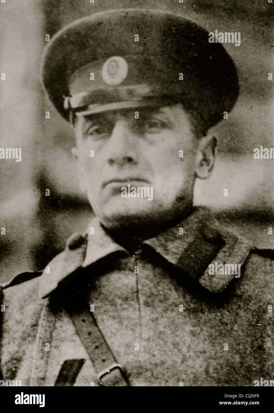 Admiral Kolchak, White Forces Commander in Russia - Stock Image