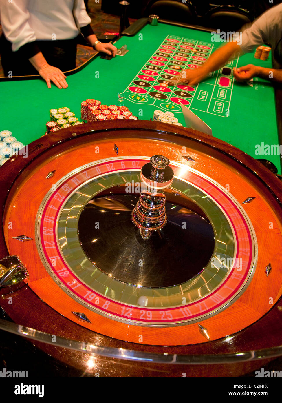 Roulette at Spirit Mountain Casino, Oregon's largest casino and number one tourist attraction, Grand Ronde, - Stock Image