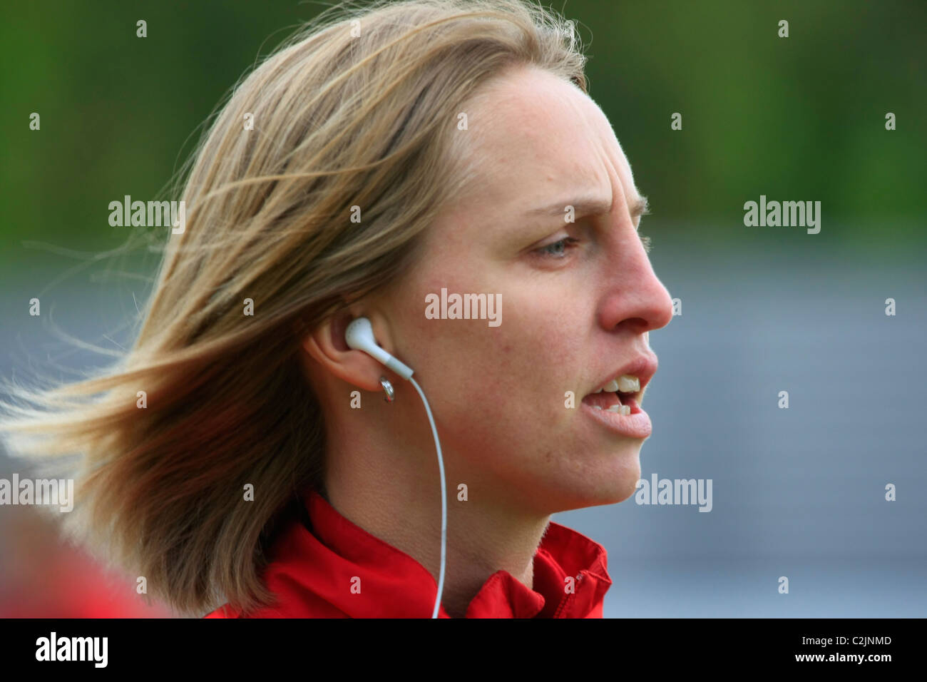 Faye White at WOMENS SUPER LEAGUE professional football series between CHELSEA & ARSENAL ladies at Tooting FC - Stock Image