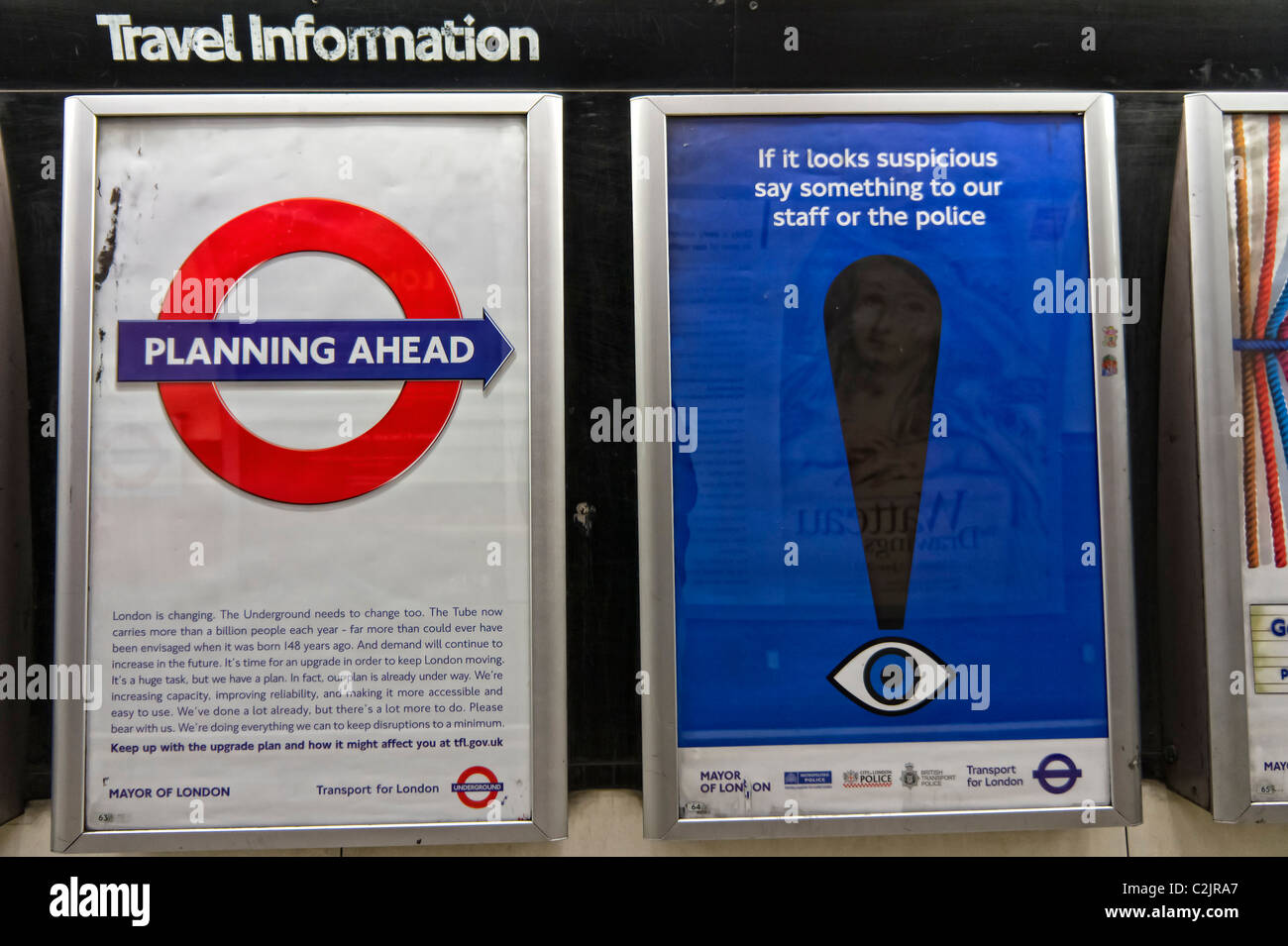 London Underground posters Stock Photo