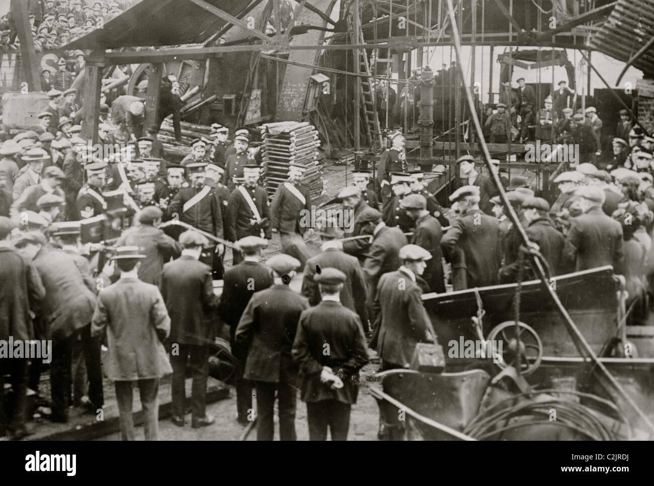 Cardiff Mine Disaster Stock Photo