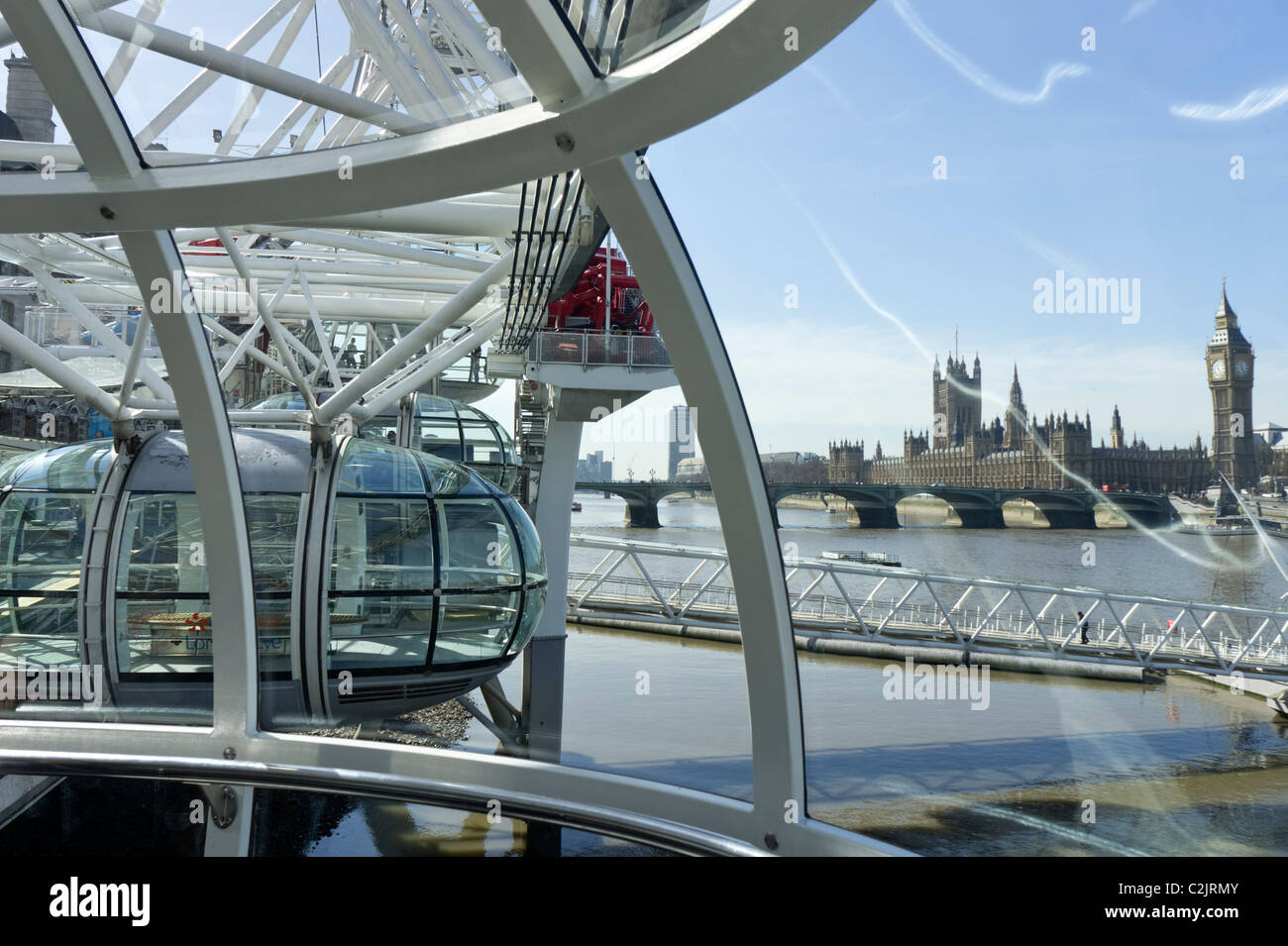houses of parliament interior. Houses Of Parliament Viewed From Inside A Capsule The London Eye  England Of Interior Uk Stock Photos