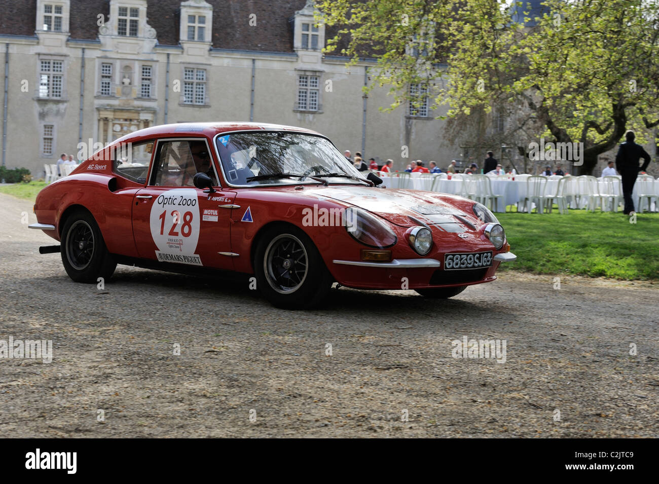 Stock photo of a 1972 CG B 1200 in the tour auto optic 2000 in 2011. - Stock Image