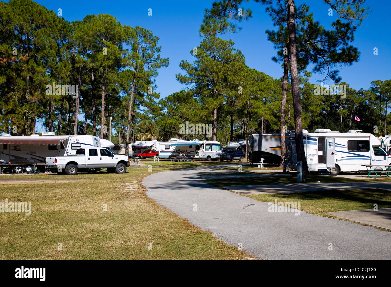 Encore's Sunshine Holiday Daytona RV Resort, Ormond Beach, FL - Stock Image