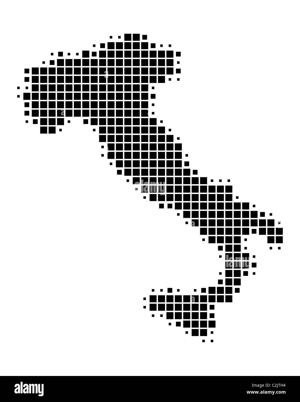 Map Of Italy Black And White.Map Of Italy Black And White Stock Photos Images Alamy