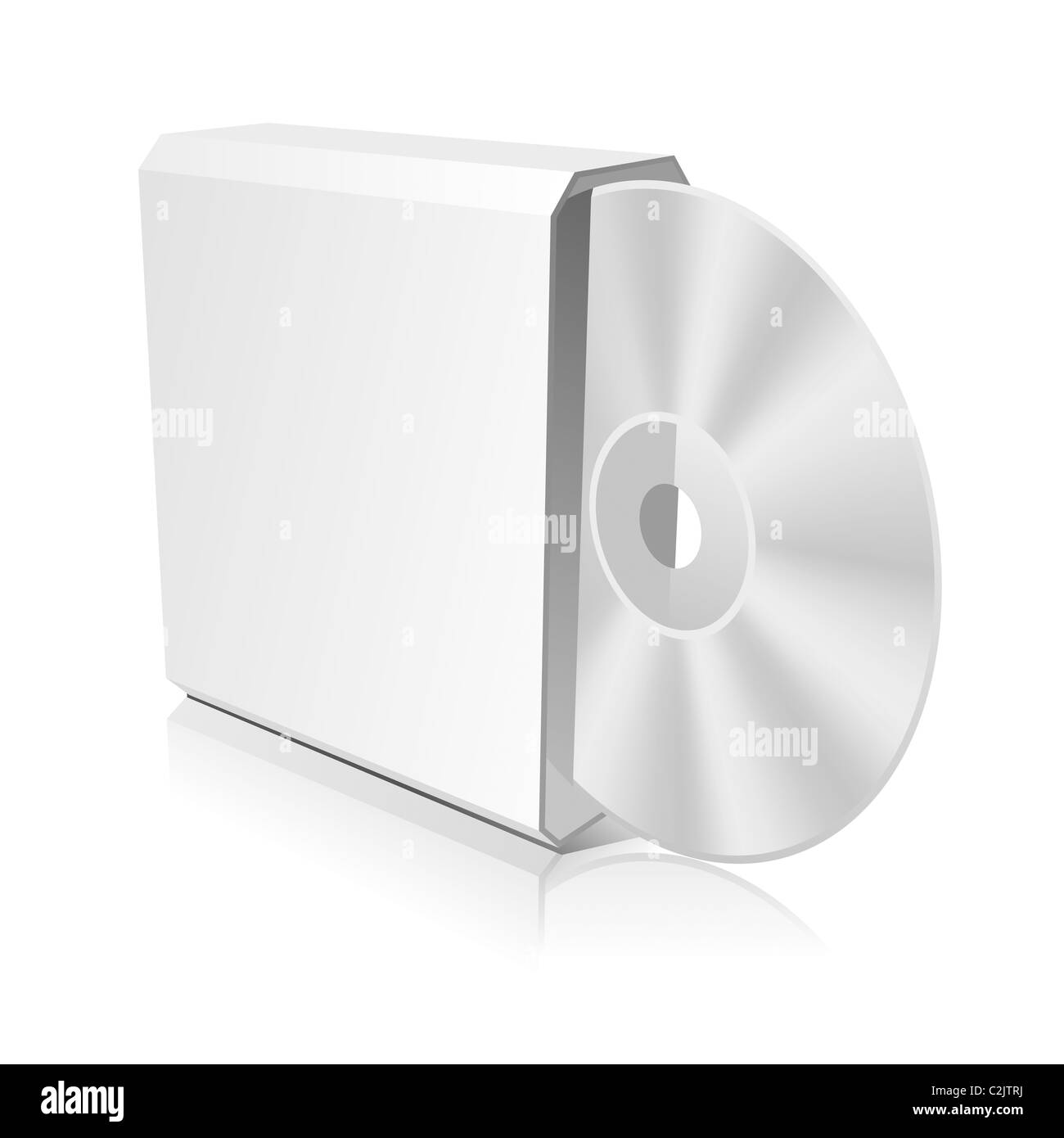 Cd Box With Cd Dvd Template Stock Photo 36064662 Alamy