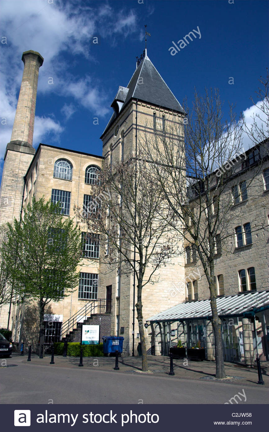 Stroud District Council offices (the old Ebley Mill), Stroud, Gloucestershire, UK. - Stock Image