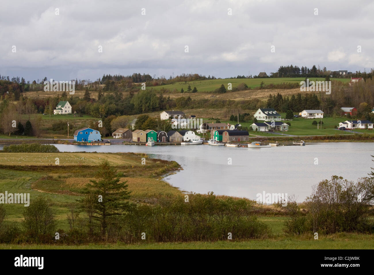 Picturesque community of French River on the north shore of Prince Edward Island, Canada - Stock Image