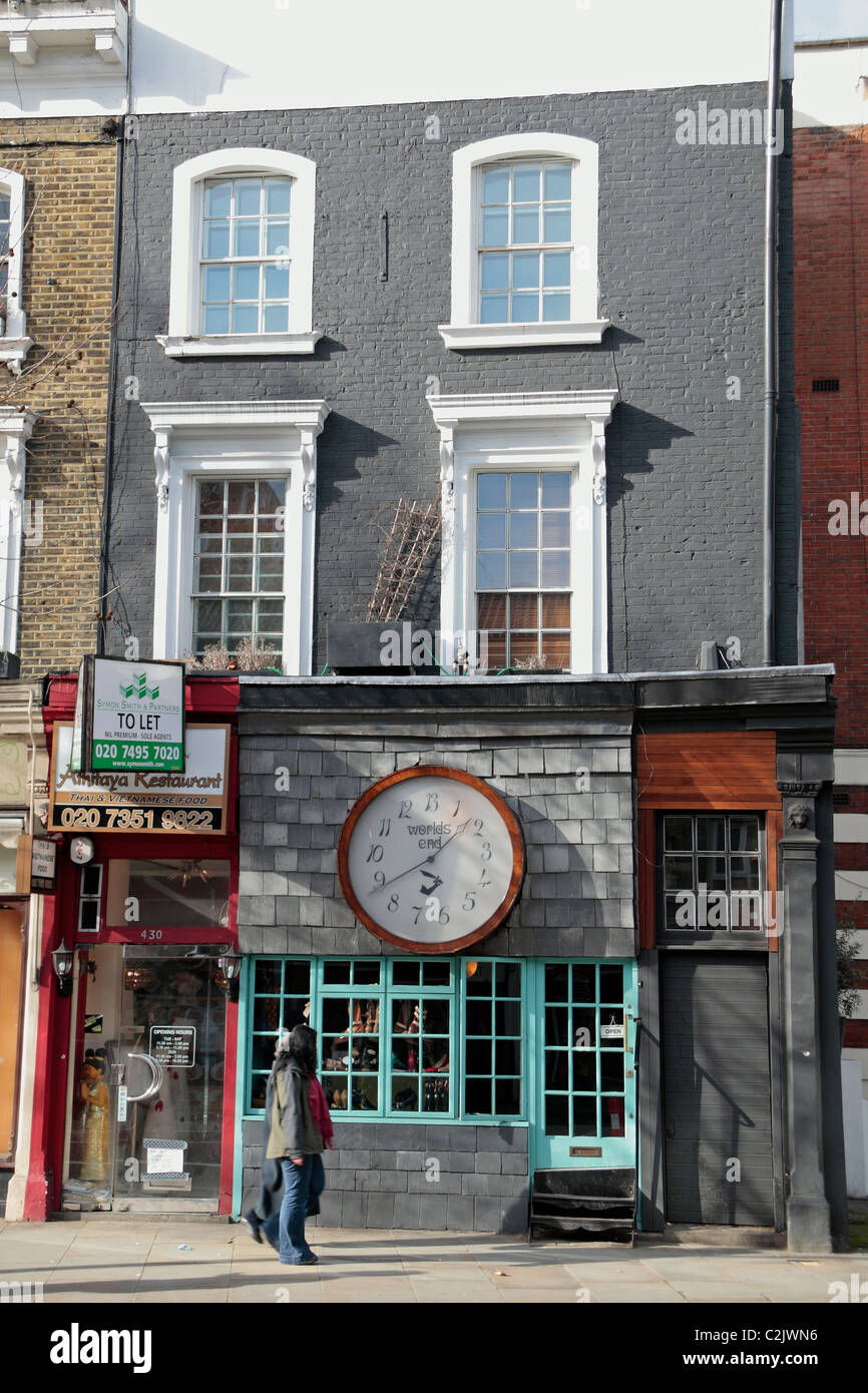 bae746c80c The World's End Clock on Vivienne Westwood's fashion shop the King's Road,  Chelsea, London SW10, UK