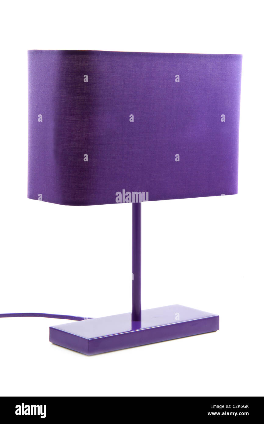 Trendy purple lamp isolated on a white background - Stock Image