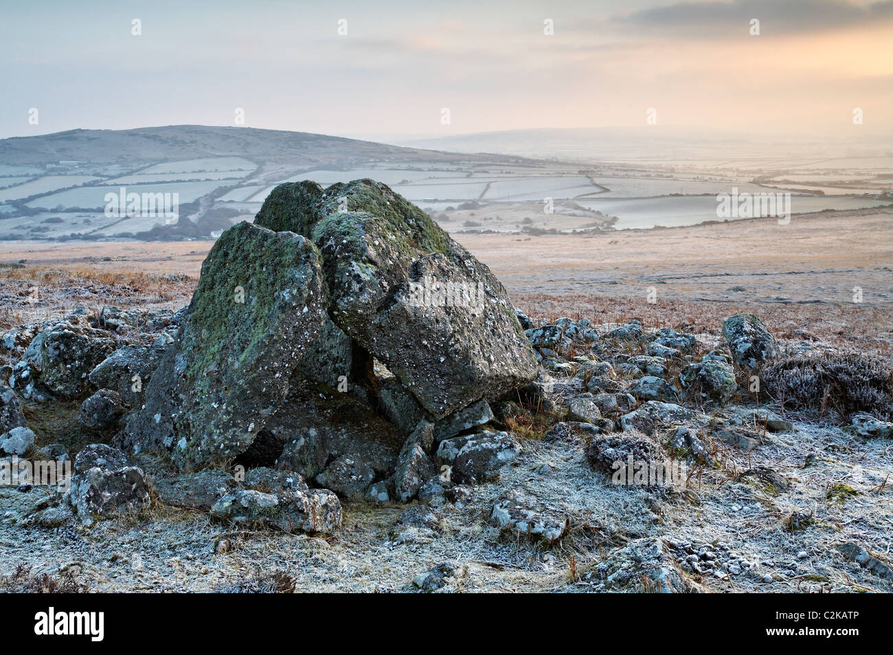 Sweyne's Howes, Rhossili Down, Gower, Wales - Stock Image