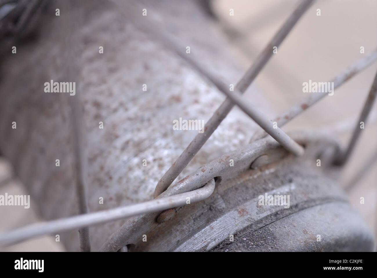 Bicycle hub. - Stock Image