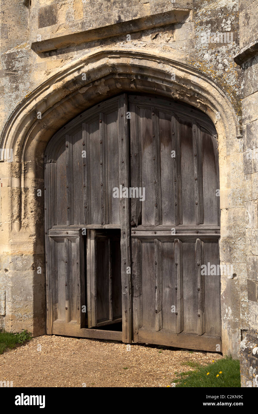 main gate entrance and wicket door Titchfield Abbey ruin near Fareham in h&shire & main gate entrance and wicket door Titchfield Abbey ruin near ...