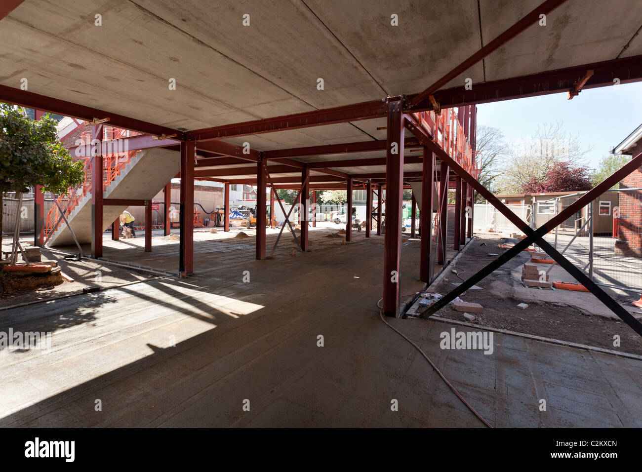 construction site with steels - Stock Image