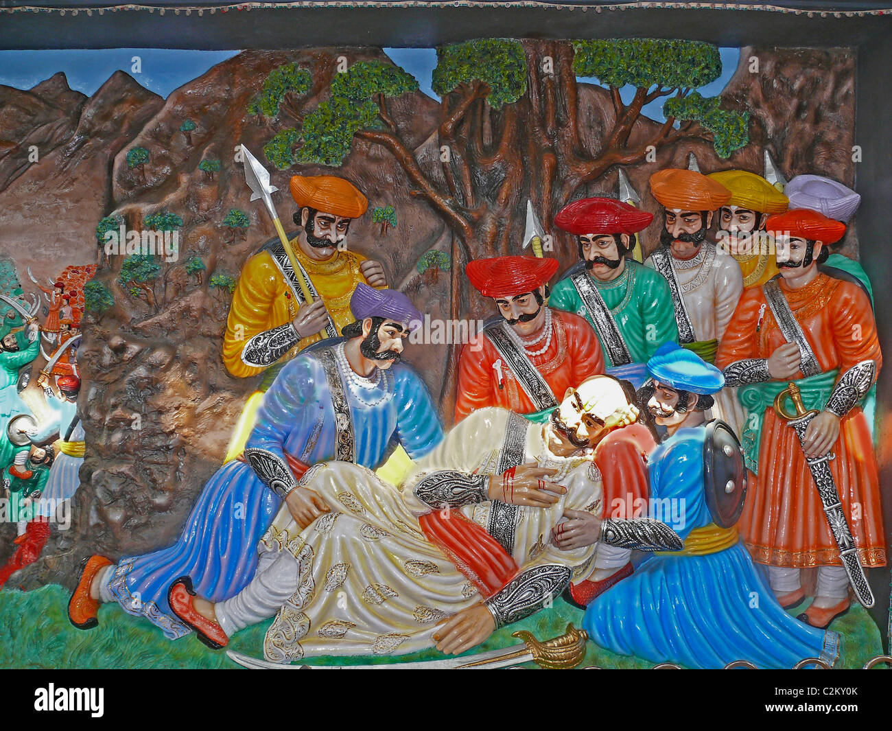 Chhatrapati Shivaji Maharaj's Empire at Dervan in the form of  the 3 dimentional paintings and sculptures constructed, - Stock Image