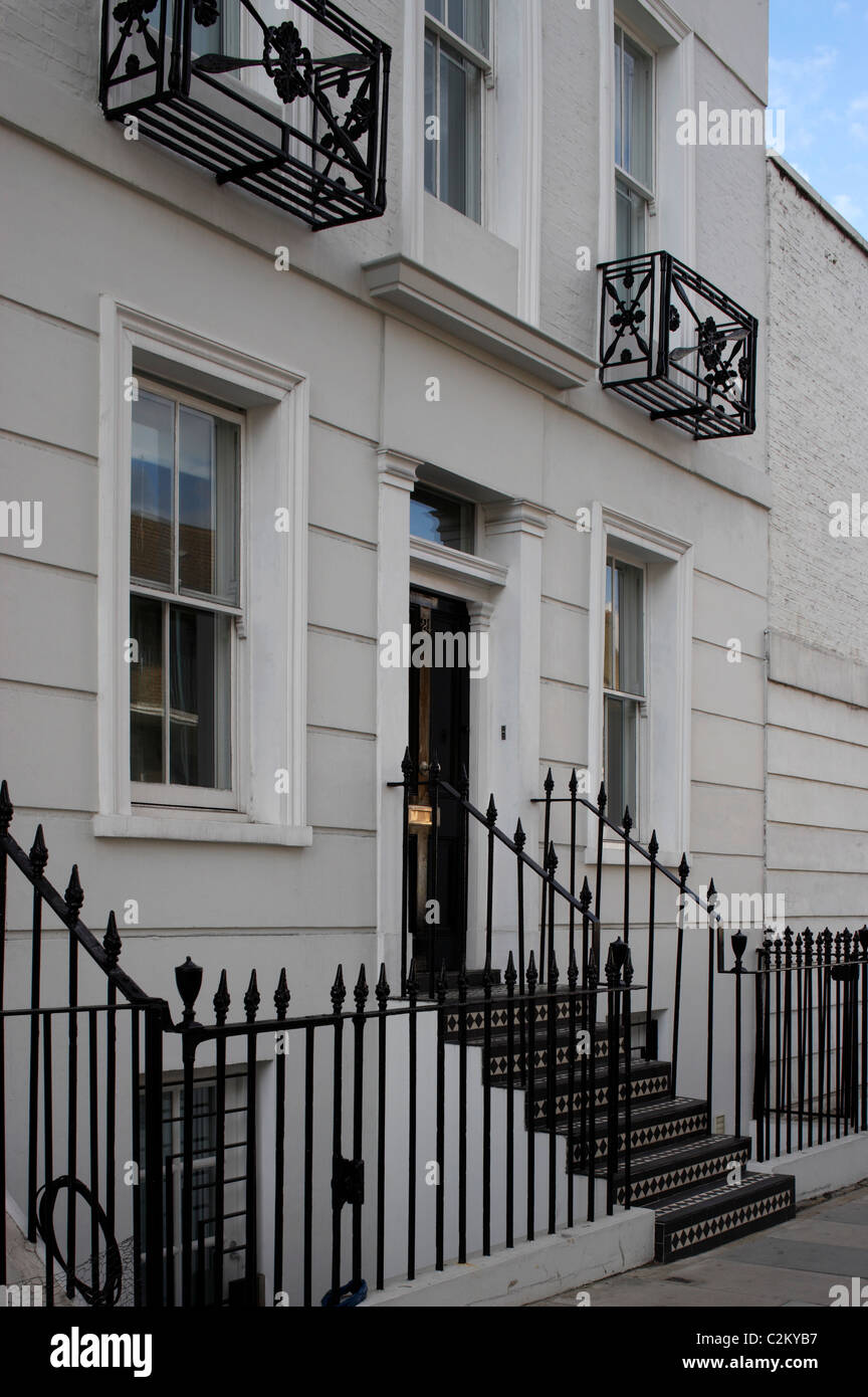 Refurbished house in Camden Town. Front exterior. - Stock Image