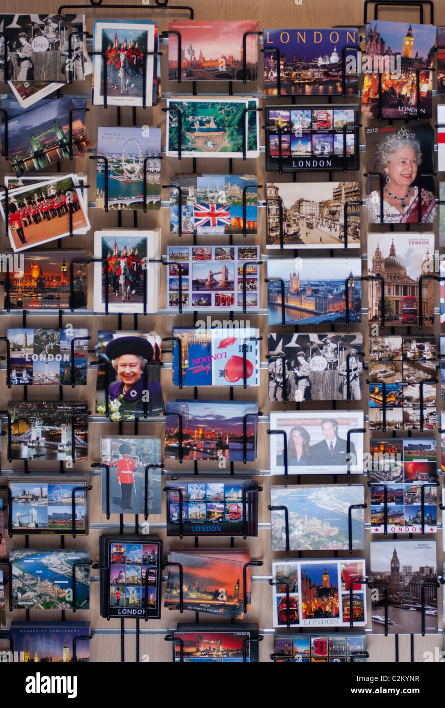 London postcards for sale. 2011. - Stock Image