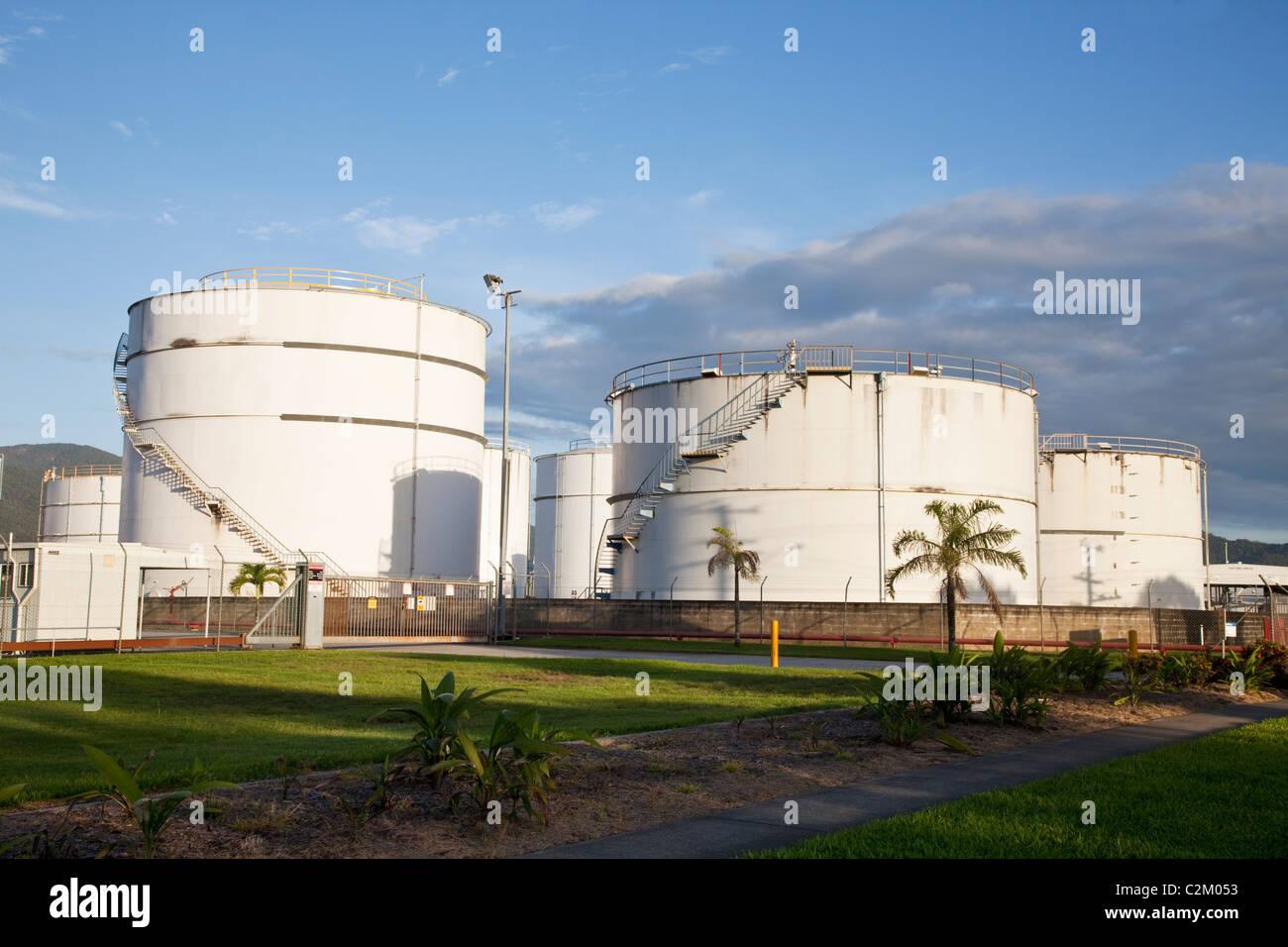 Fuel storage tanks at Portsmith. Cairns, Queensland, Australia - Stock Image
