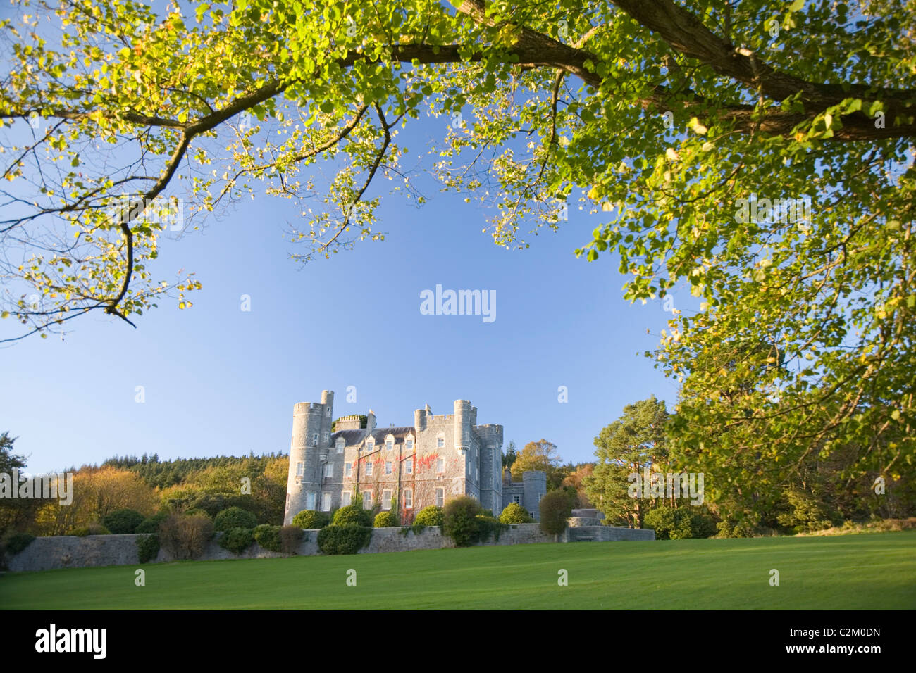 The Scottish baronial Castle at Castlewellan Forest Park, County Down, Northern Ireland. - Stock Image