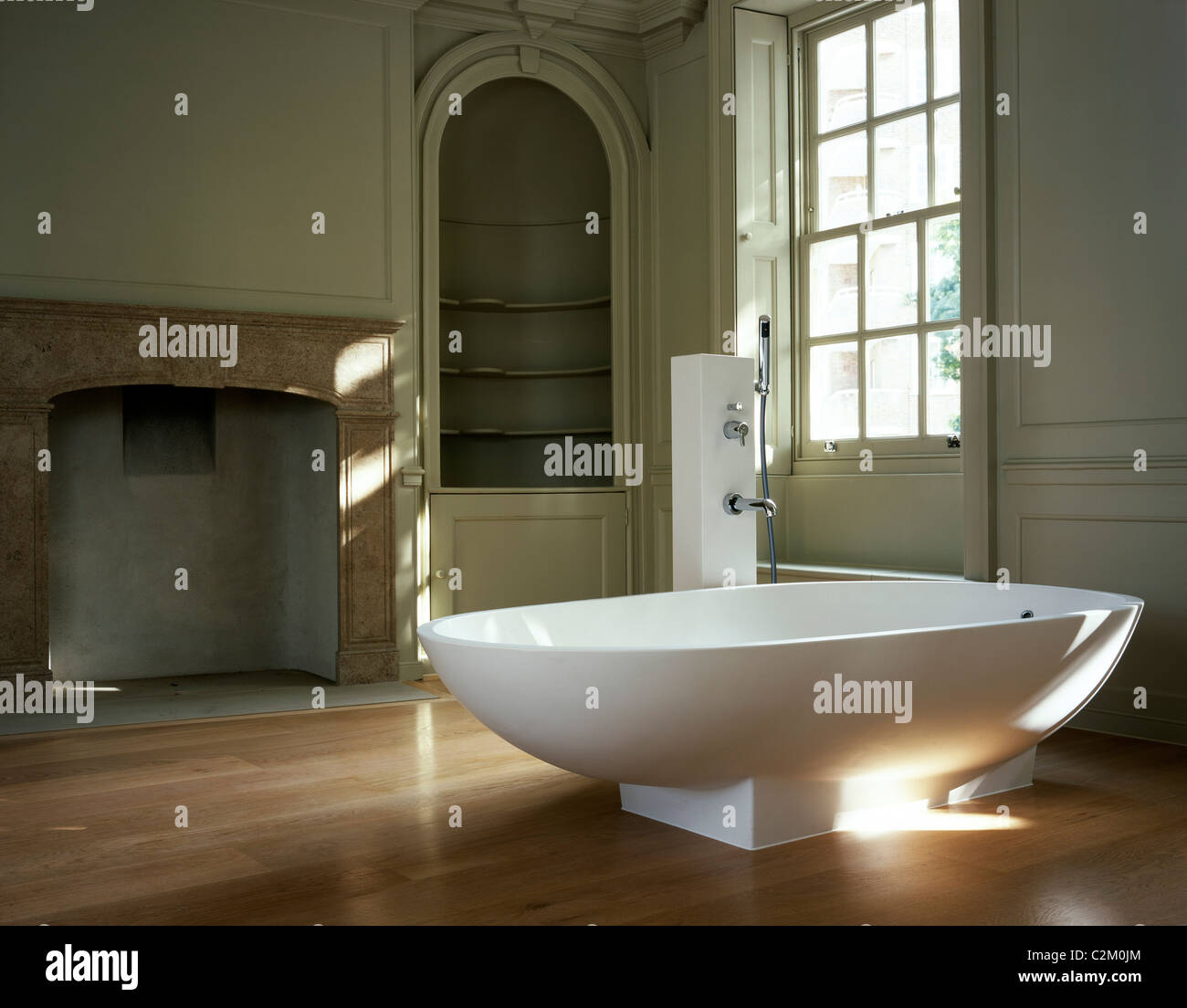 Refurbished house in Belgravia. Bathroom. - Stock Image
