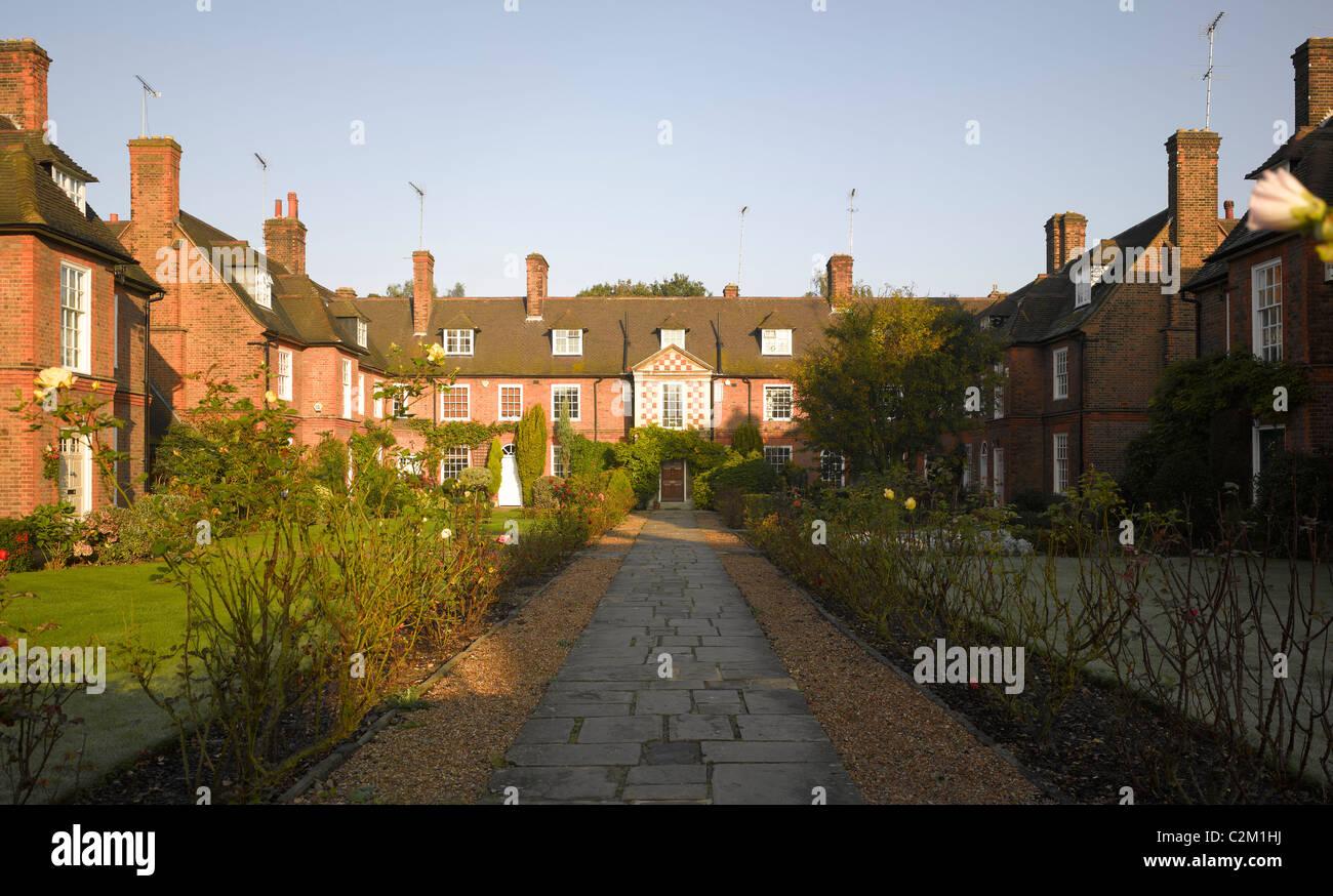 Corringham Road, Hampstead Garden Suburb, London. - Stock Image