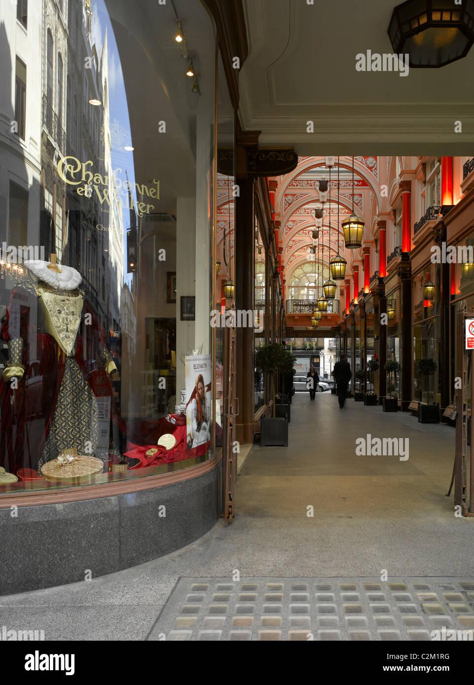 Royal Arcade, New Bond Street, Piccadilly, London. Stock Photo
