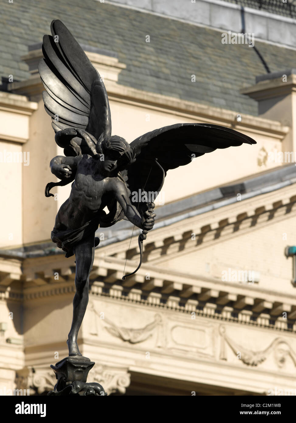 Anteros Statue, Shaftesbury Monument Memorial Fountain, Piccadilly, London. - Stock Image
