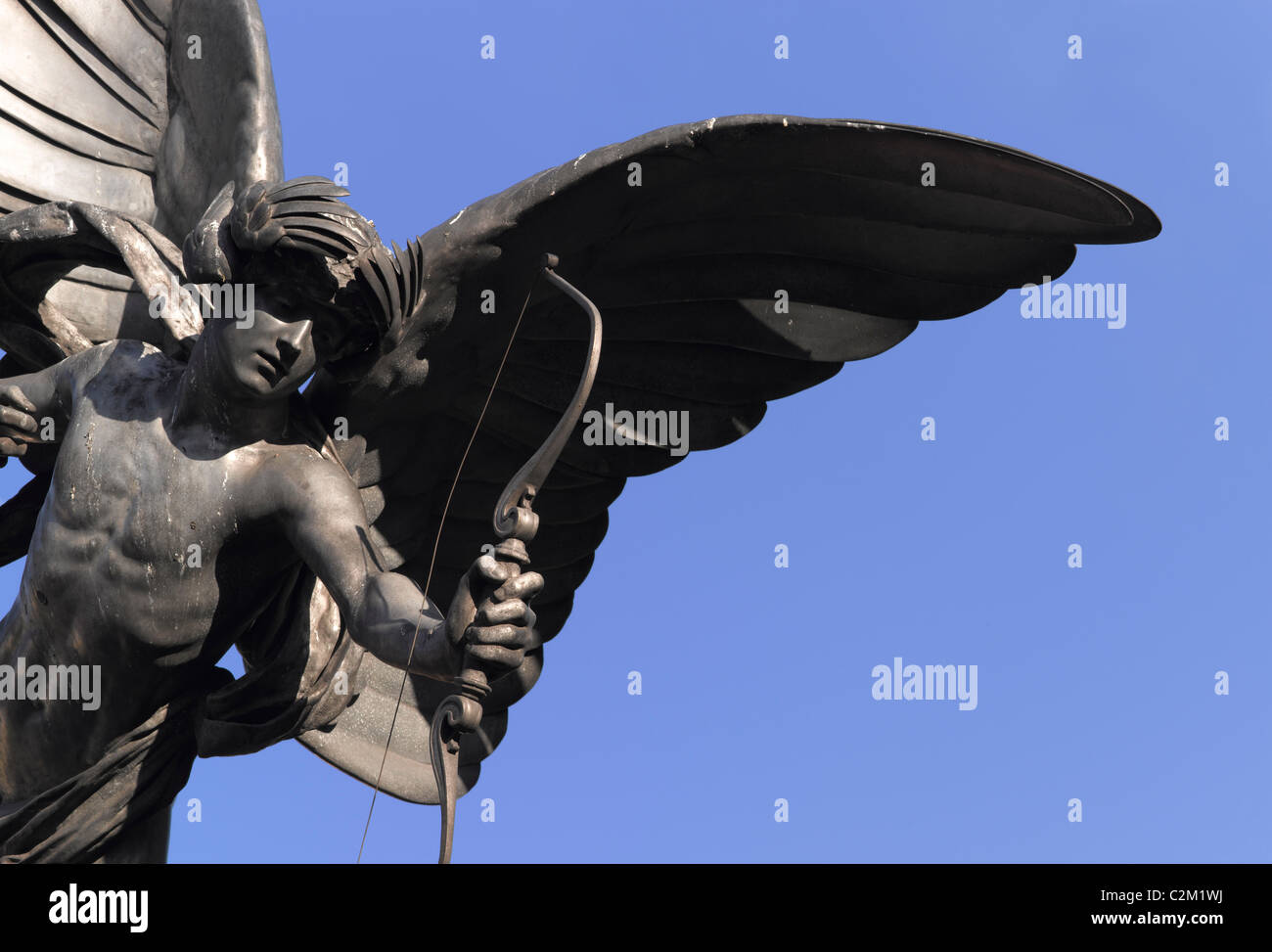 Anteros Statue, Eros, Shaftesbury Monument Memorial Fountain, Piccadilly Circus, London. 1893 - Stock Image