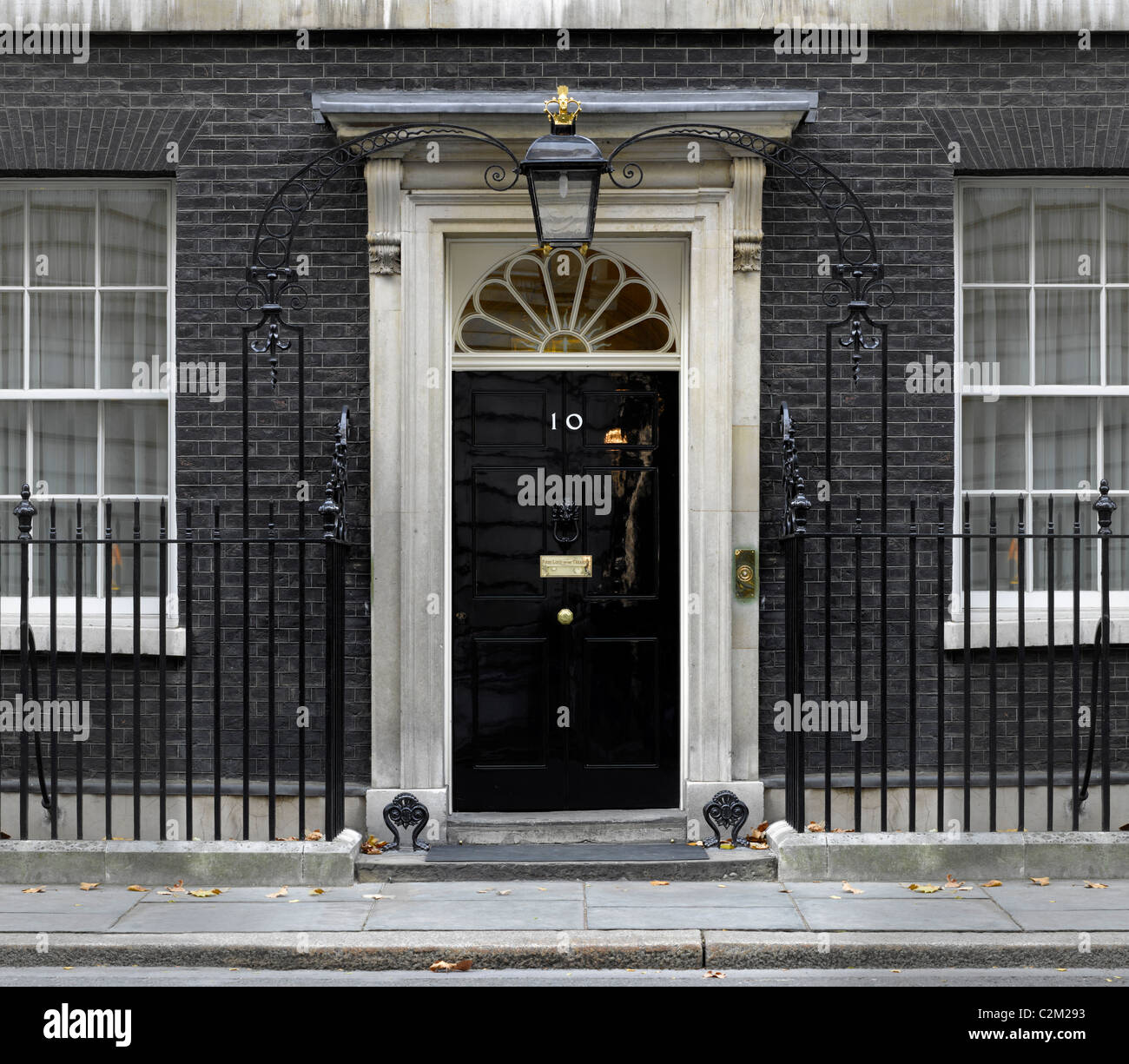 Number 10 Downing Street, Westminster, London. - Stock Image