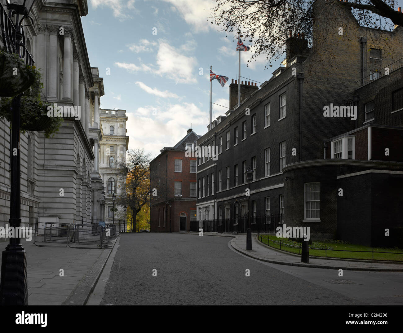 Downing Street, Westminster, London. - Stock Image
