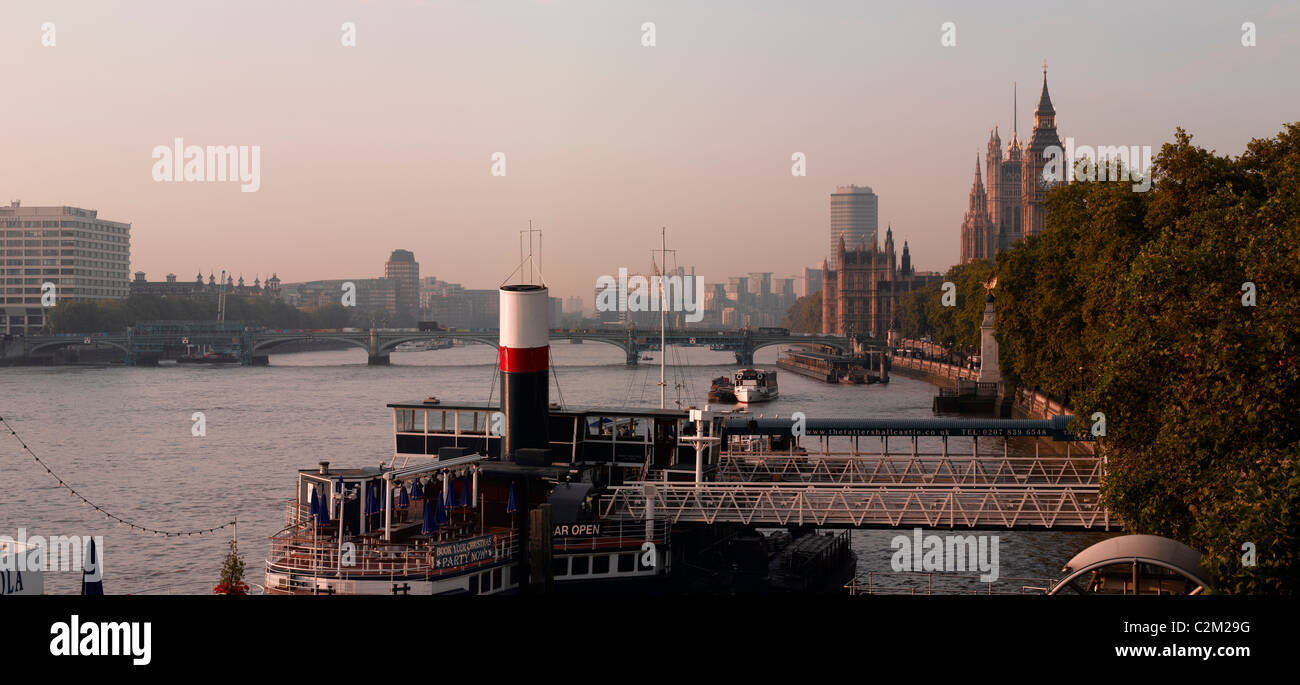Victoria Embankment, London. - Stock Image