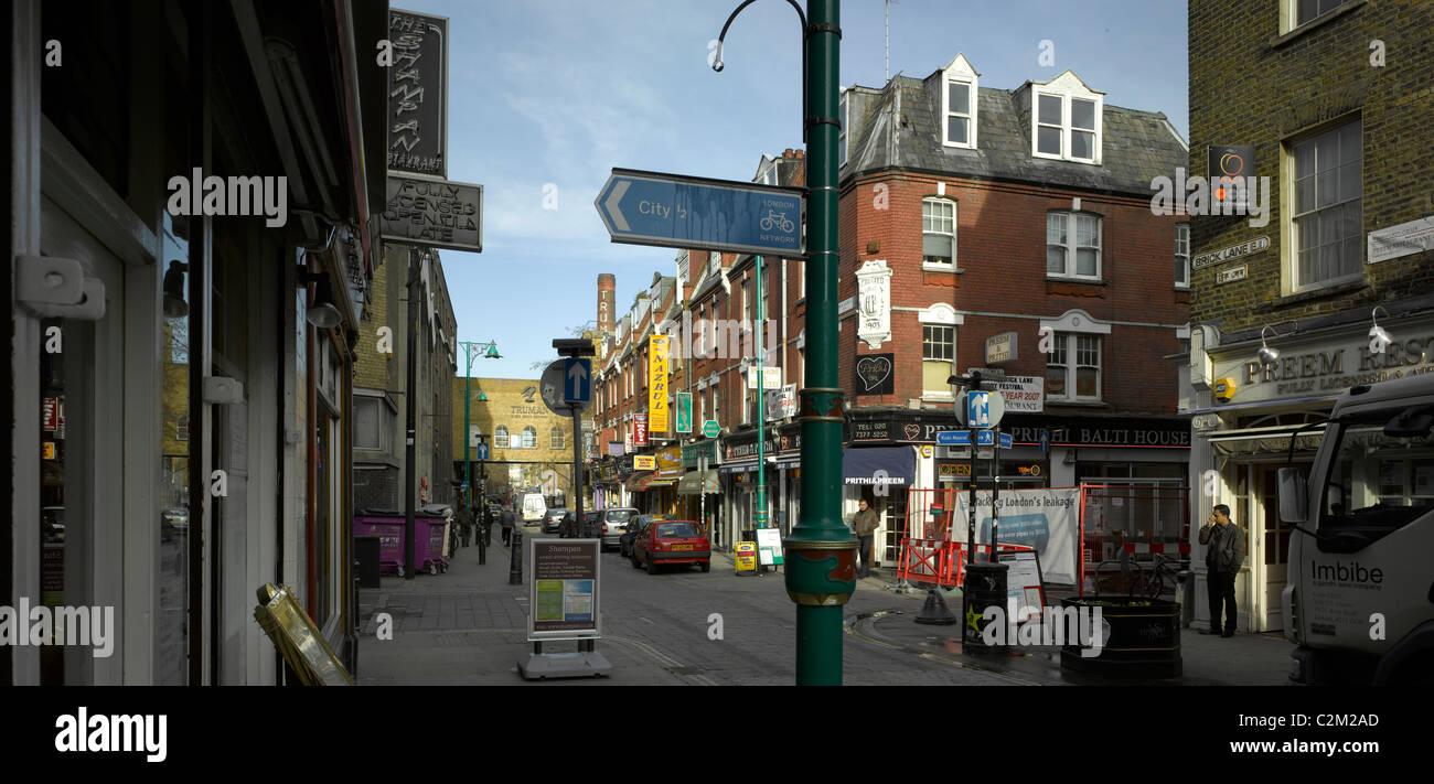 Brick Lane, Tower Hamlets, London. - Stock Image