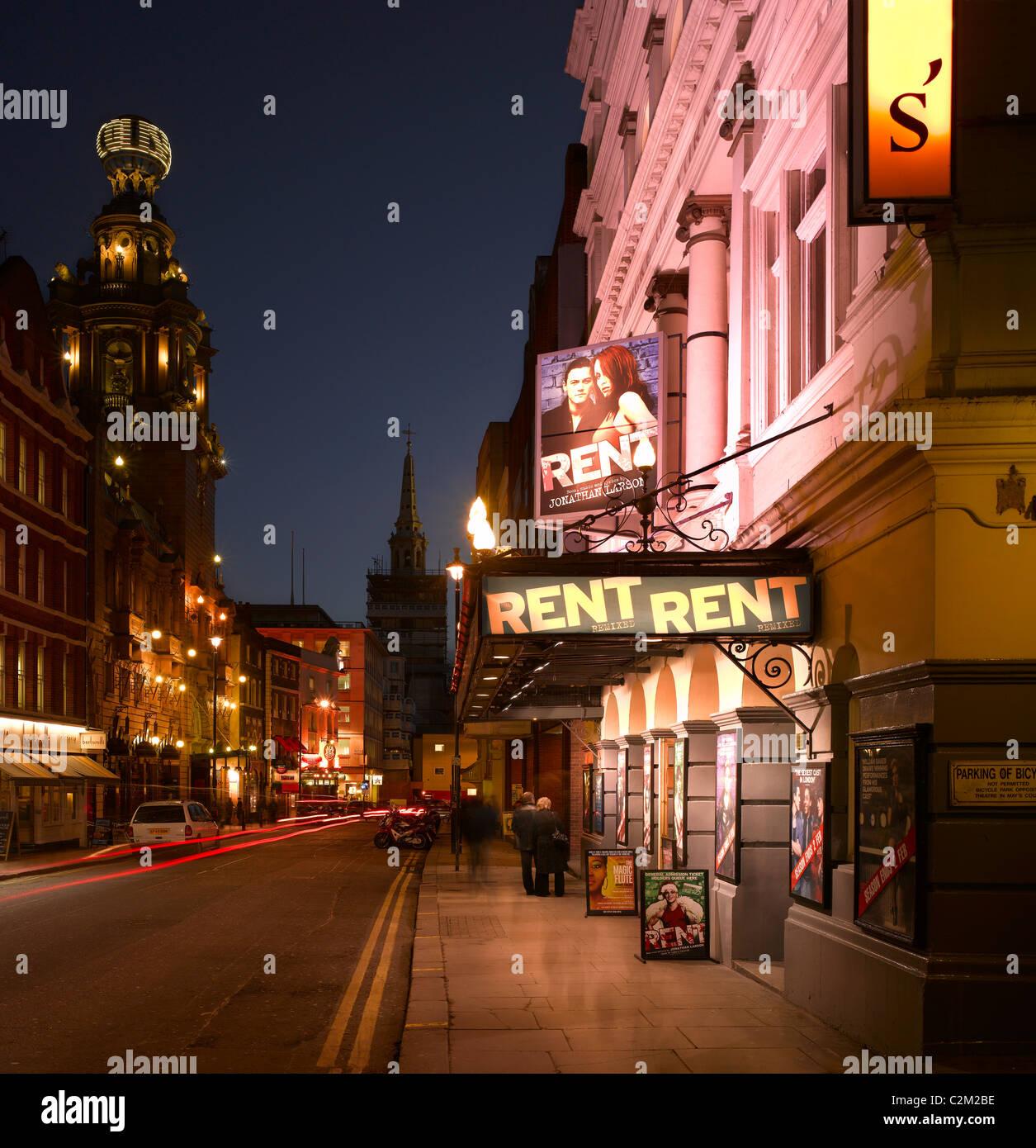 St Martin's Lane, London. - Stock Image